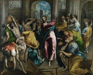 Cristo expulsando a los mercaderes del templo -El Greco