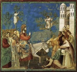 Entrada de Jesús en Jerusalén -Giotto
