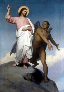 Tentación de Jesús -Ary Scheffer-