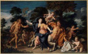 Hércules, Deyanira y el centauro Neso -Noél Coypel