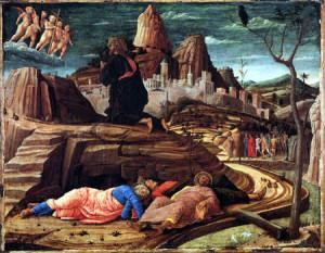 Cristo en el monte de los olivos -Mantegna
