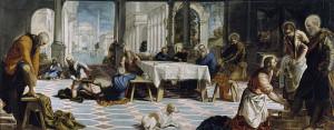 El lavatorio de pies -Tintoretto