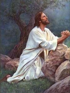 Jesús ora en el monte