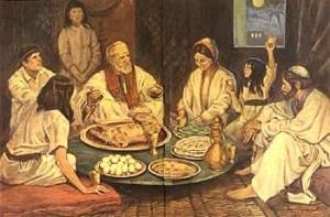Cena en la pascua judía