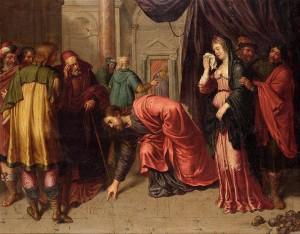 Cristo y la mujer adúltera -Pieter Van Lint