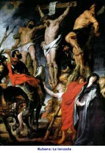 Longinos, lanzada a Jesucristo -Rubens