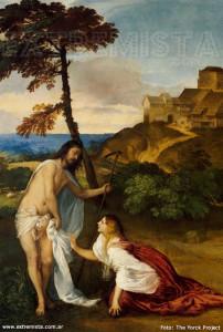 María Magdalena y Jesús resucitado -Tiziano