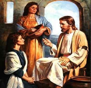 Marta, María Magdalena y Jesús