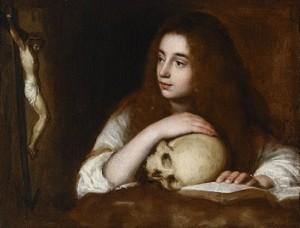 María Magdalena y calavera